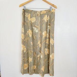 Sag Harbor floral aline skirt